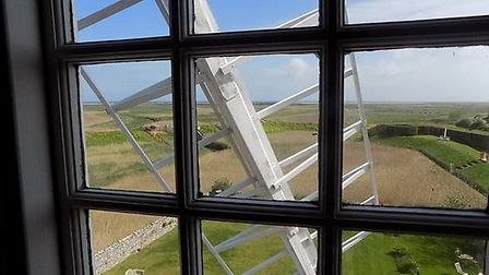 Cley Windmill has been voted the east of England's best window with a view. Photo: MyGlazing.com