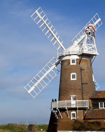 Cley Next The Sea windmill on a bright winter day. Photo by Mark Bullimore