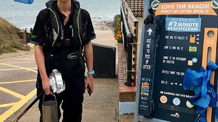 The West Runton Beach Cafe's two minute beach clean campaign has been hailed a success. Photo: West