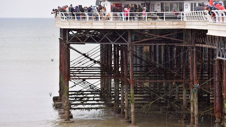 Steelwork beneath Cromer Pier could be repaired in a £400,000 project Picture: Nick Butcher