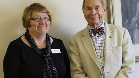 Linda Sewell and Michael Baker celebrate their work anniversary on the same day. Photo: Bakers and L