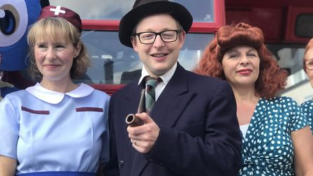 Holt prepares for 1940s weekend in 2018. Photograph: Neil Didsbury