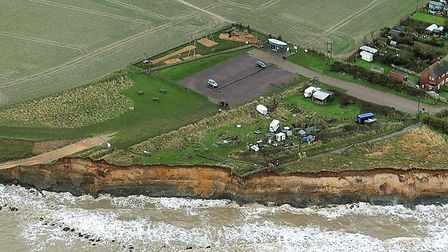 The Happisburgh coast in 2018 where the ramp is in danger from erosion. Photo: Mike Page