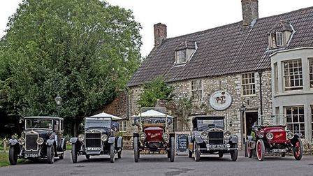 Steam cars, pictured at a recent rally in Gloucestershire, will soon be heading to north Norfolk. Ph