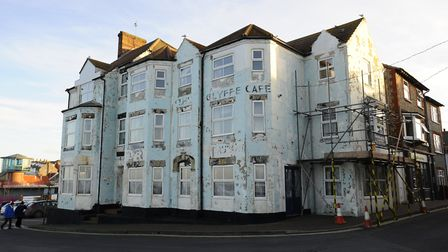 The derelict former Shannocks Hotel is in a prime position in Sheringham. Picture: MARK BULLIMORE