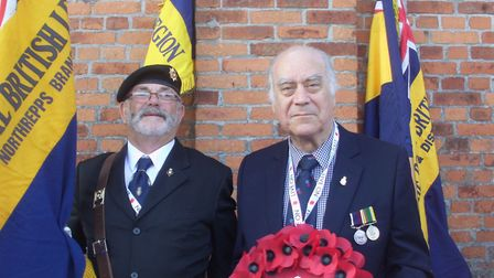 Peter Howes, of Wymondham Royal British Legion, and Colin Chambers, of North Walsham branch, who rep