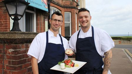 Cliftonville Hotel executive chef Paul Harvey and head chef Jamie Hood, who cooked up a selection of