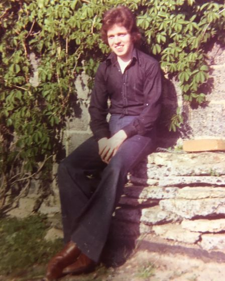 Steve Bullimore in his youth, which revolved around music. Picture: SUPPLIED BY STEVE BULLIMORE