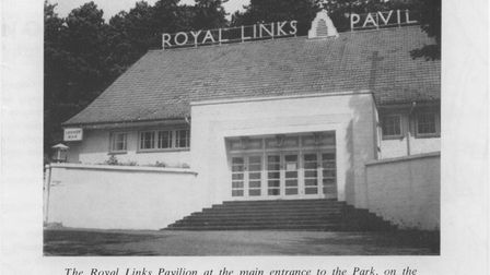 The entrance to the Royal Links Pavilion in Cromer.