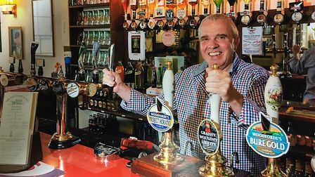 Steve Bullimore behind the pumps at the Lighthouse in Walcott. Picture: SUPPLIED BY STEVE BULLIMORE