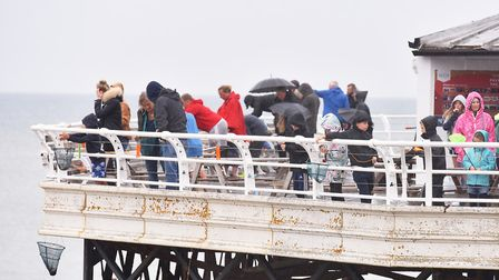 Competitors take part in the World crabbing championships off Cromer Pier.Picture: Nick Butcher
