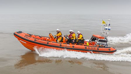 The Wells inshore lifeboat was called to resuce four people fishing. Picture: CHRIS TAYLOR christayl