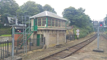 Visitors can look inside Cromer railway's former signal box during the Heritage Opens Day event. Pic