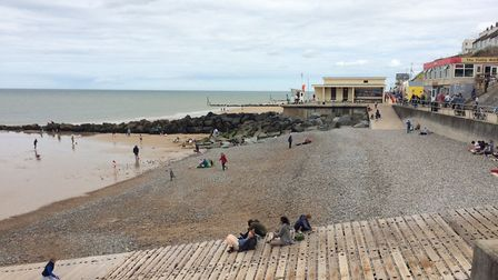 The beach was back to normal after the air ambulance departed. Pictures: David Bale