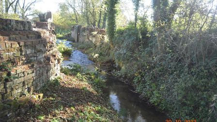 Remains of one of the Swafield locks. Pictures: North Walsham and Dilham Canal Trust.