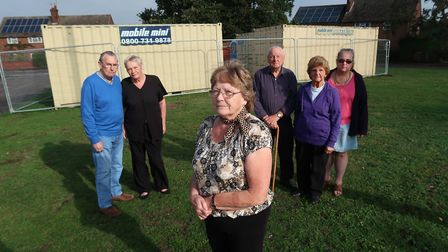 Residents of Tenison Road and Nelson Road in North Walsham unhappy about the equippment being stored