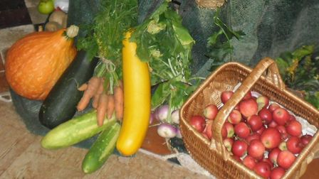 An arrangement for the harvest thanksgiving service at Whissonsett's St Mary's Church. Picture: SUPP