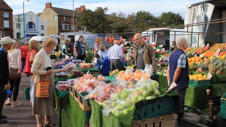 Sheringham's market, where traders say they have benefited from free parking at the town's Tesco sto