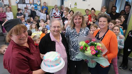 From left, Tracy Hindry, Elizabeth Bacon, Marion Colebrook and Alison Read at Aldborough Primary Sch