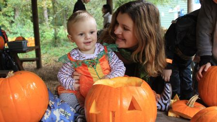 Pumpkin carving fun at a previous year's Halloween trail at Holt Country Park. Picture: KAREN BETHEL