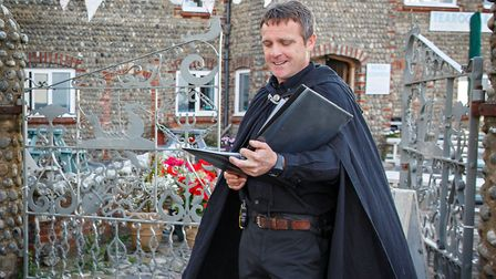 Actor Steve Banks, who is leading a ghost walk around Sheringham for Halloween.Photo: Chris Taylor/A