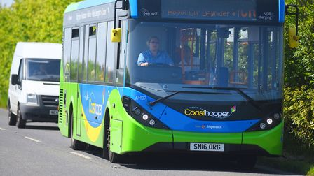 One of the Coasthopper buses. Picture: Ian Burt