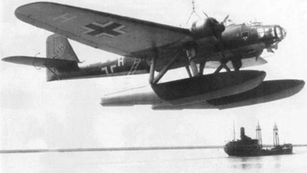 A German Heinkel He 115, like the one which crashed on the beach at Sheringham during the Second Wor