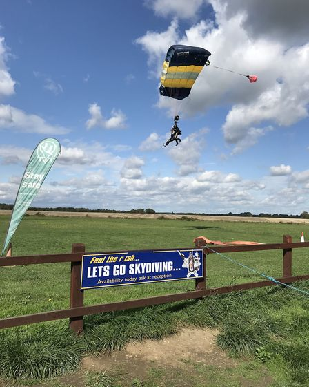 The team from the Manor House in North Walsham skydived for charity. Picture: HEALTHCARE HOMES