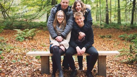 Holly Rumsby, 17, with mum Nicki, 40, dad John, 46, and brother Luke, 15. Photo: the Rumsby family