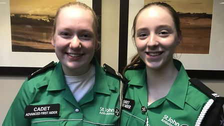 Holly, right, has been volunteering at St John Ambulance since she was 14. Photo: Holly Rumsby