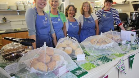 Purdy's Tea Room team staff served up cakes and cffee at a Macmillan fundraiser. Picture: PURDYS