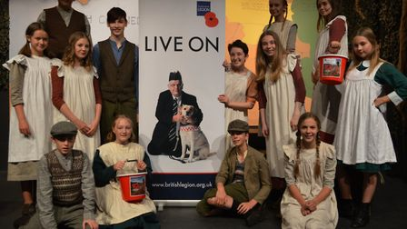 Members of the cast of Great War drama The Battle of Boat whose shows raised funds for the Royal Bri