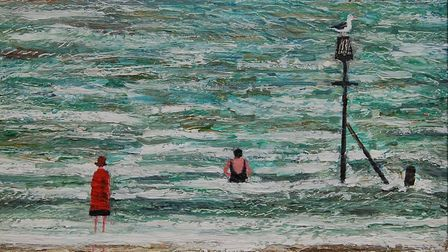 Bathers at Cromer, by Paul Robison.Photo: PAUL ROBINSON