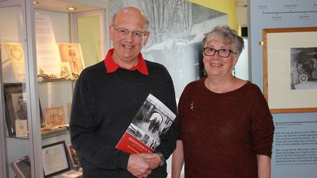Sheringham Museum chairman Tim Groves and volunteer and researcher Jane Crossen, who have helped wri
