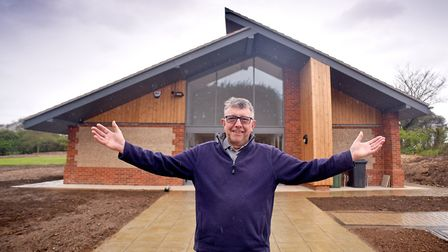 Terry Brown at the opening of Trimingham's new village hall, the venue for the 'Trosh'. Picture: ANT