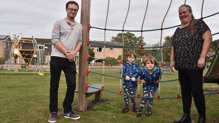 The councils fell out over the installation of play equipment at Fearns Park in Cromer. Tim Adams an