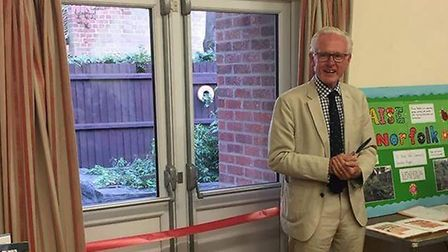 Norman Lamb opened a new community garden in North Walsham. Pictures: Mel Lloyd