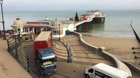 Filming is over in Cromer and they are packing up. Pictures: David Bale