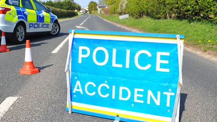 Police are on the scene on the A47. Photo: Steve Adams