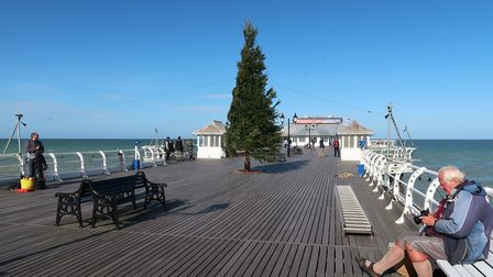 The Christmas tree on Cromer pier, put up for the festive BBC production. Picture: STUART ANDERSON