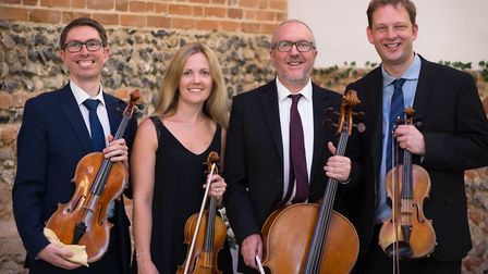 The Kavolini String Quartet, who will be performing at the Belfry Arts Centre, Overstrand, as part o