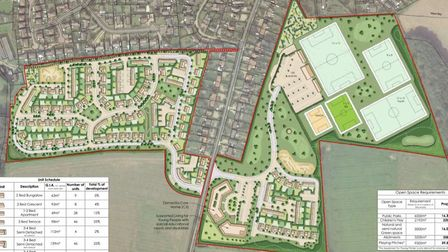 A plan of the proposed development in Cromer. Picture: CORYLUS PLANNING AND ENVIRONMENT/PLANNING DOC
