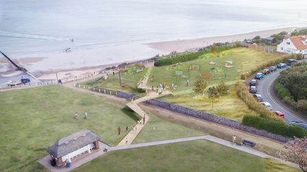 Artist's impression of new area at North Lodge Park. Picture: AREA landcape architects