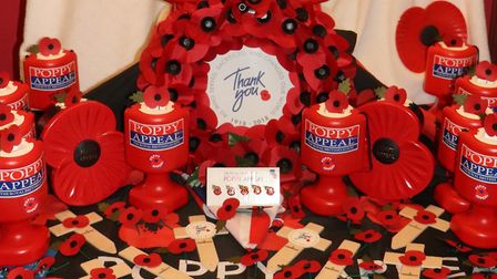 Start of 2018 Poppy Appeal in Cromer. Pictures: supplied by David Pritchard