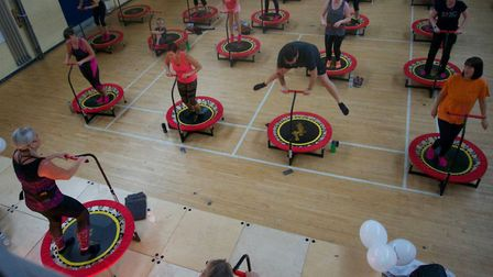 Recognise yourself? Boogie bounce for coronary care unit. Pictures: supplied by Lauren Willetts