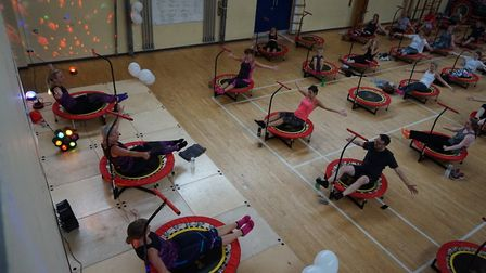 Boogie bounce for coronary care unit. Pictures: supplied by Lauren Willetts