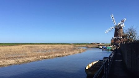 Before and after shots of Cley harbour. April 2018. Pictures: supplied by Mel Kemp