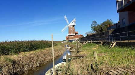 Before and after shots of Cley harbour. September 2015. Pictures: supplied by Mel Kemp