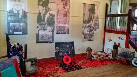 The display of more than one thousand crafted poppies at the RAF Oulton Museum on the Blickling Esta