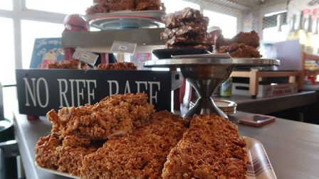 The famous flapjacks at Sheringham's Funky Mackerel Cafe. Picture: STUART ANDERSON